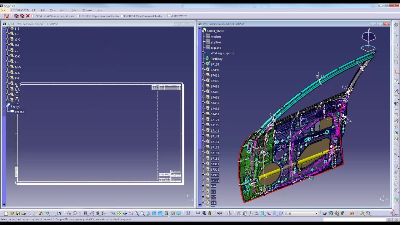 Catia V5 R26 New Functionality 3d Grid Display Youtube