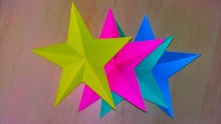 How to make simple & easy paper stars| 5 Minute Crafts To Do When You're BORED!! Christmas star Tuto