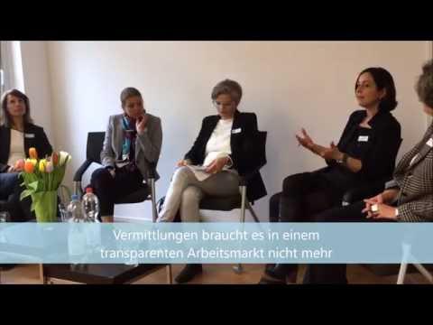 Podiumsdiskussion Aktuelle Bewerbungspraxis und Arbeitsmarkt
