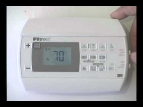 filtrete 3m22 how to put the thermostat in manual mode youtube rh youtube com