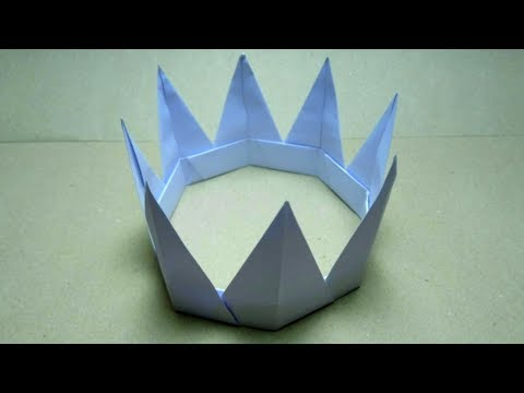 How to make a paper crown with your own hands/Origami crown