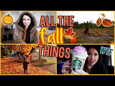 VLOG! 🎃 🍁  FALL IN SEATTLE, ZOMBIE STARBUCKS?! WEEK 1 of ACCUTANE, PUMPKIN PATCH, CALIFORNIA TRIP!