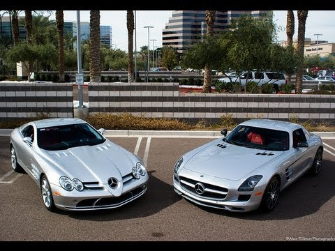 13 mercedes sls amg vs mclaren slr youtube. Black Bedroom Furniture Sets. Home Design Ideas