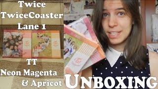 Unboxing - twice - twicecoaster lane 1 - tt apricot & neon magenta ver. - 3rd mini album