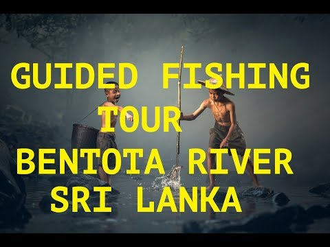 Guided Fishing Tour on Bentota River in Sri Lanka! Red Snapper ! Baracuda ! Fishingtrip