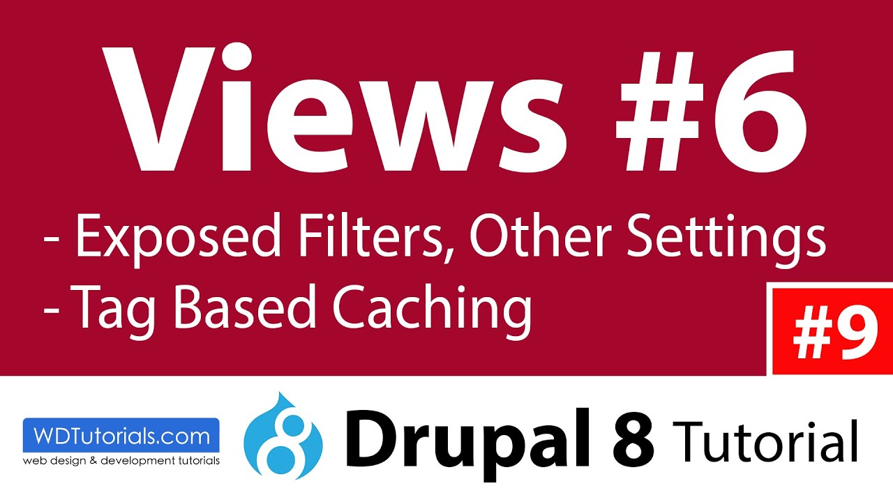 Drupal 8 - How To Use Views Exposed Filters (6/7)