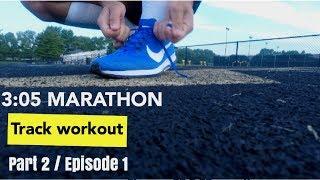 Chasing 3:05  Boston marathon qualifying time / track workout