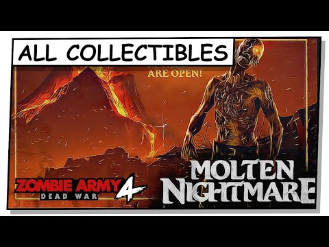 """Zombie Army 4 : Dead War (2020) - All Collectibles - Mission 6 - """"Molten Nightmare"""" 