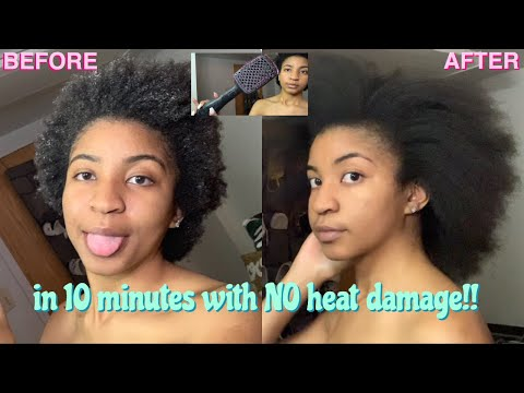 HOW TO: safely wash, detangle, and blow dry natural 4C hair + length check