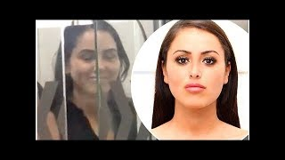 Marnie Simpson struggles through passport control due to her new face