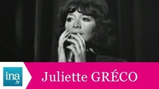 "Juliette Gréco ""Coin de rue"" (live officiel) - Archive INA"