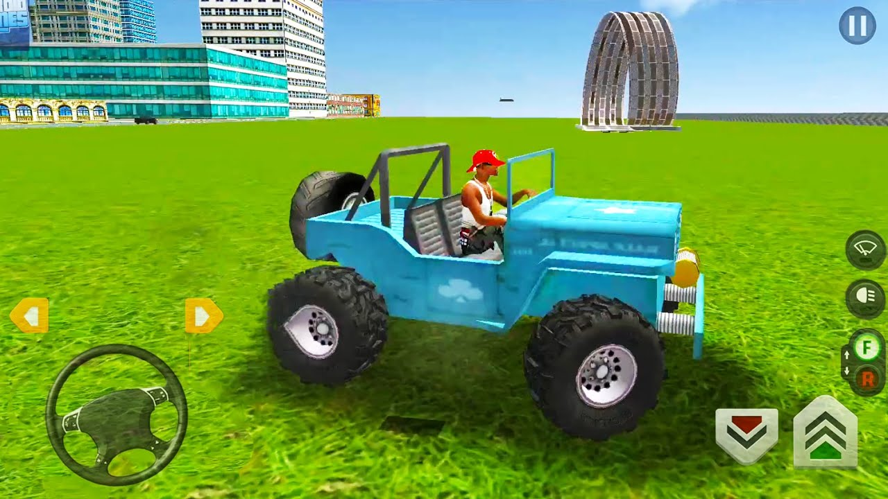 Jeep Monster Truck Driving Simulator - Stunts In City Traffic - Android Gameplay