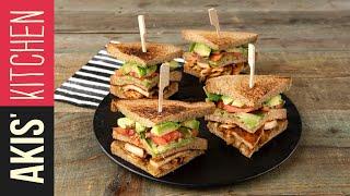 Vegetarian Club Sandwich | Akis Kitchen