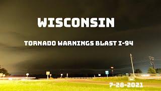 Severe Storms with Tornado Warnings Blast Across Wisconsin
