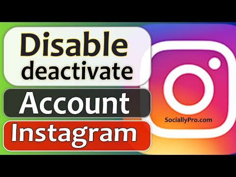 How To Deactivate Or Disable Instagram Account