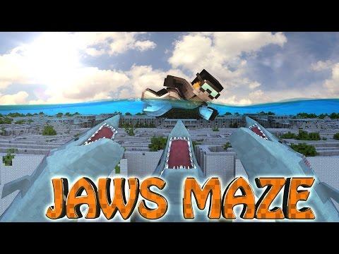 Minecraft | MAZE CHALLENGE SURVIVAL - JAWS Challenge Part 8! (Sharks)