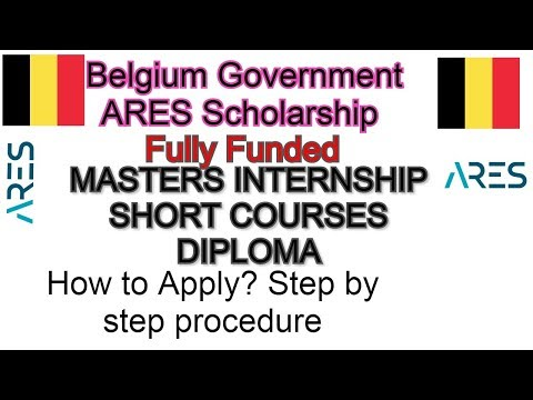 Belgium Government Scholarship 2020 2021 Fully Funded