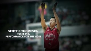 Scottie Thompson Turns in a Performance for the Ages! | PBA Philippine Cup 2016 - 2017