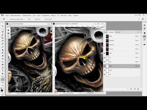 Цветоделение для шелкографии в фотошоп. Часть 3