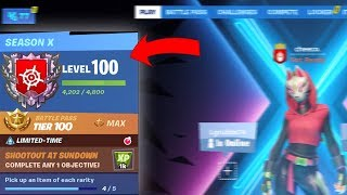 How to LEVEL UP + MAX BATTLE PASS in Fortnite Season X