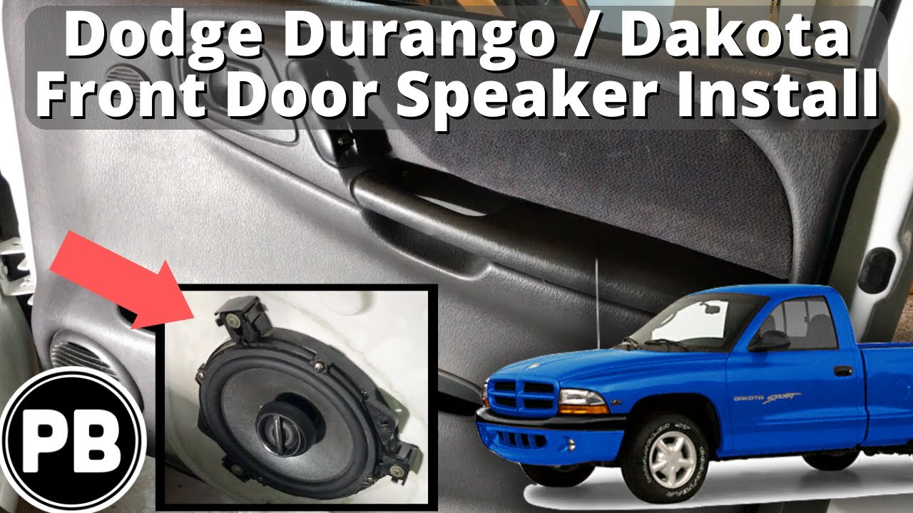 hight resolution of 1997 2000 dodge dakota durango front door speaker install