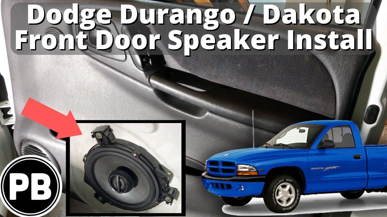hight resolution of 1997 2000 dodge dakota durango front door speaker install