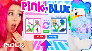 Trying The ONLY ONE COLOR Trading Challenge In Adopt Me for 24 hours! Roblox Adopt Me Trading