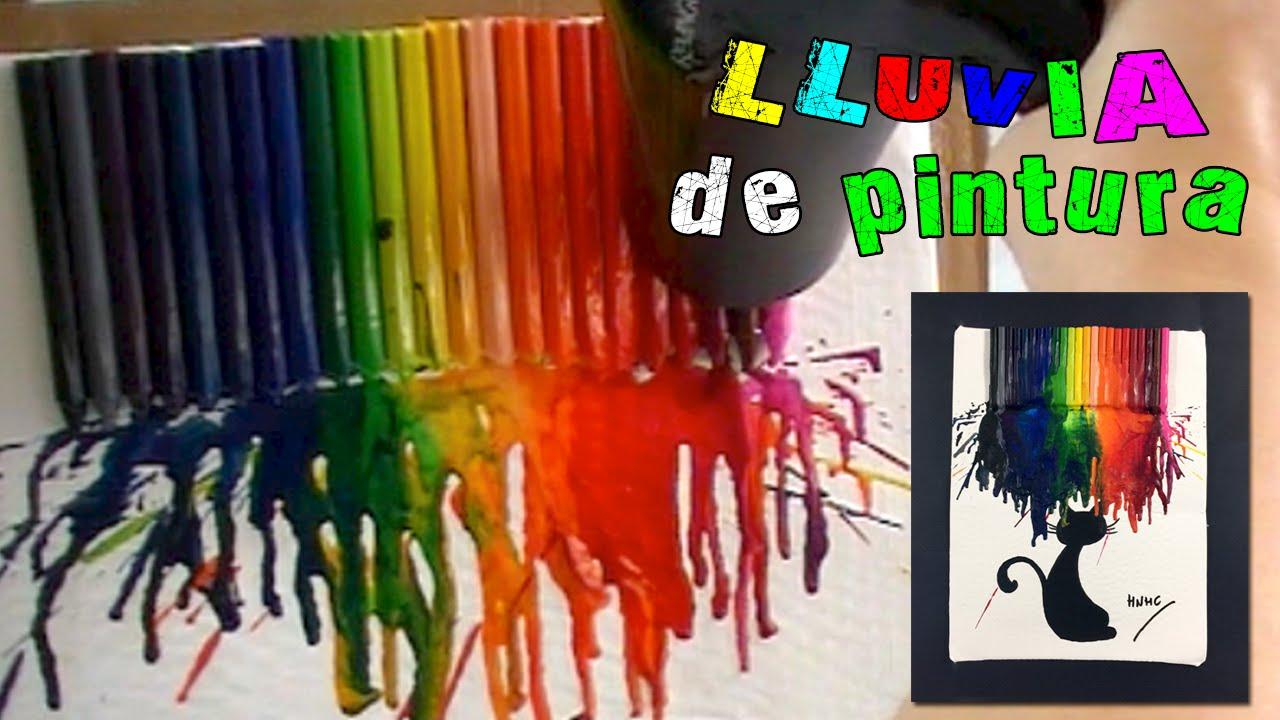 Cuadro Con Ceras O Crayolas Derretidas: ¡lluvia De