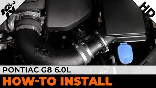 2008 and 2009 Pontiac G8 6.0L Air Intake Installation