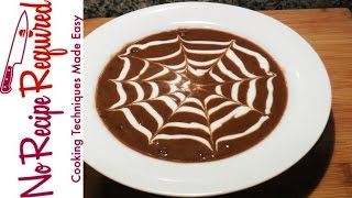 """spider Web"" Halloween Black Bean Soup - Noreciperequired.com"