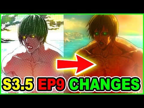 Hidden Season 4 Scene? | Manga Vs Anime Change Analysis | Attack On Titan Season 3 Part 2 Episode 9