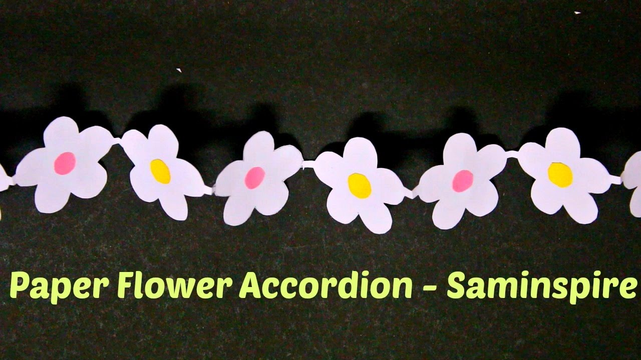 How to make a flower accordion paper flower garland saminspire how to make a flower accordion paper flower garland saminspire mightylinksfo