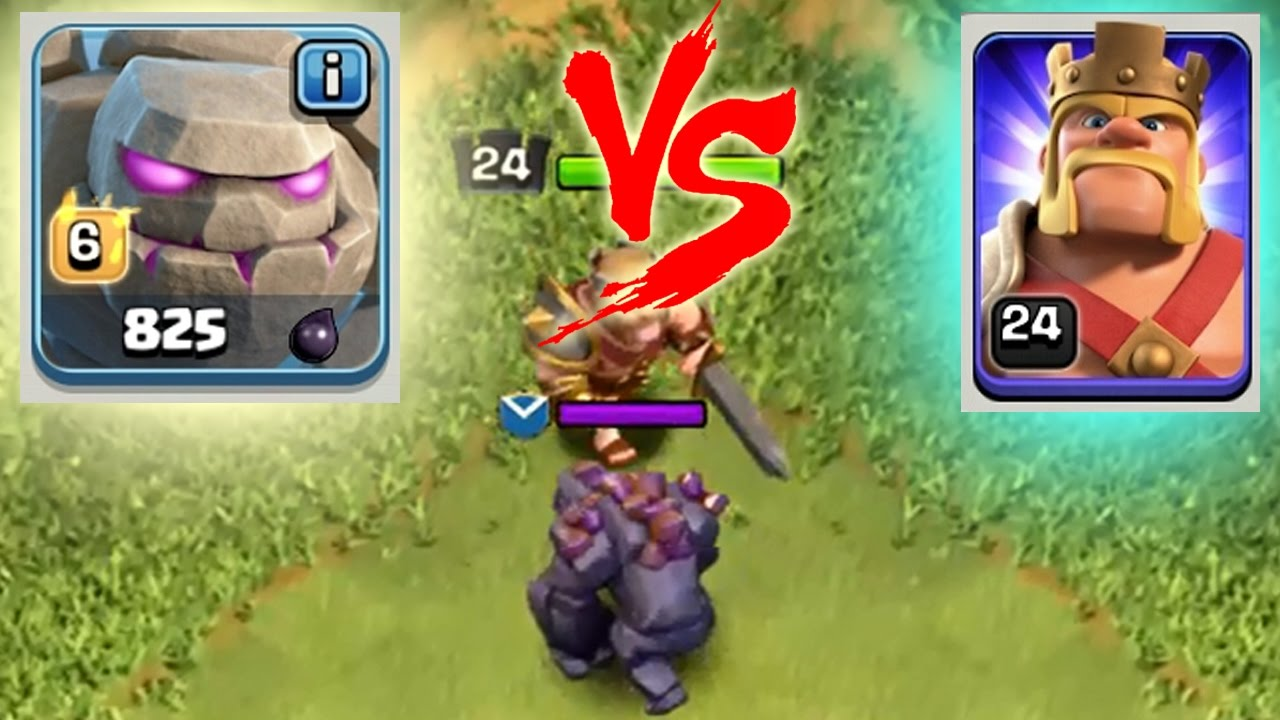 Momen Lucu Coc Golem Lvl  Vs Barbarian King Clash Of Clans Indonesia Youtube