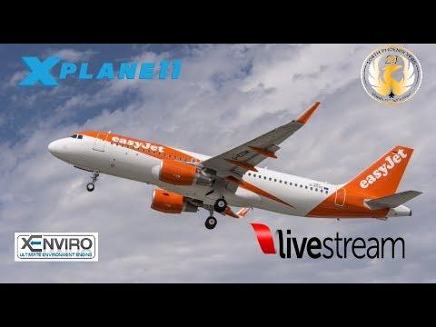 X-Plane 11 | A320 B733 | VATSIM | EGGW-EIDW-EGLL-ELLX-LFMN