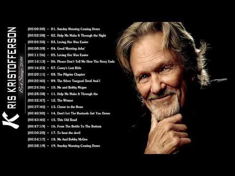 Kris Kristofferson Greatest Hits - Kris Kristofferson Best Songs - Kristofferson Great Songs