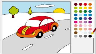 Drawing for Kids - How to Paint Plane and car and boat