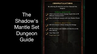 diablo 3 the shadow s mantle set dungeon guide patch 2 4 2 season7