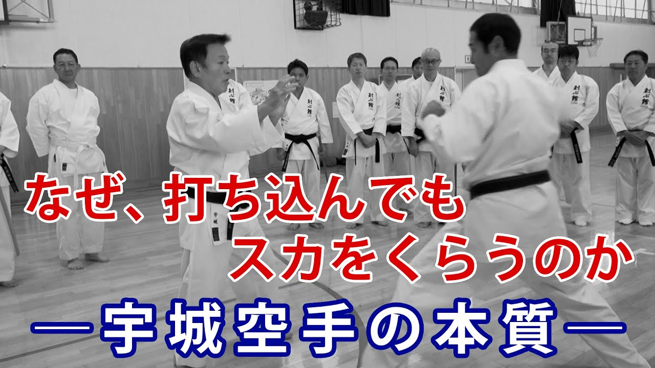 """""""Striking into an empty space""""  The essence of Ushiro Karate"""