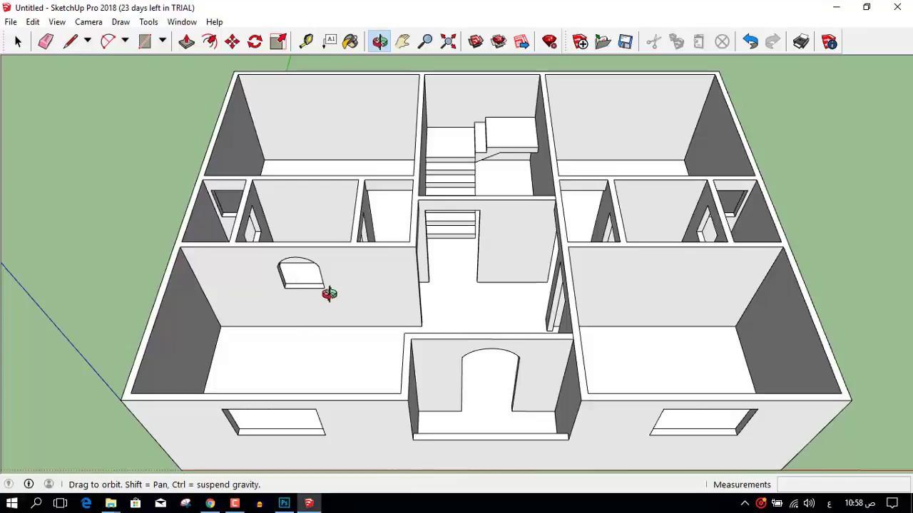 تصميم منزل 100متر مربع واجهة واحدة 3d