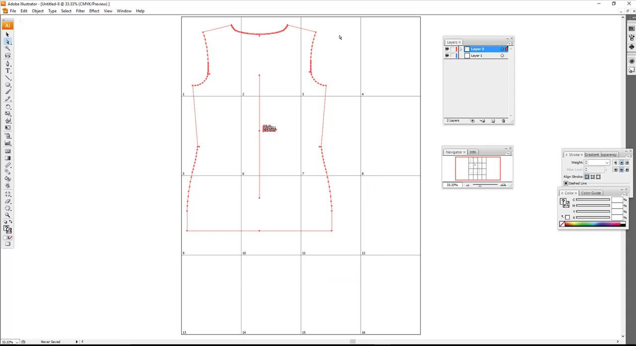 Adobe Illustrator CS3: Creating a Tiled Artboard for PDF Sewing ...