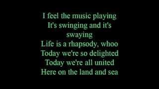 Here on the land and sea - lyrics