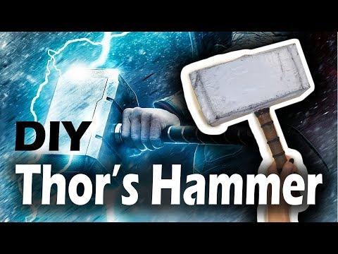 Paper Mache Thor's Hammer DIY