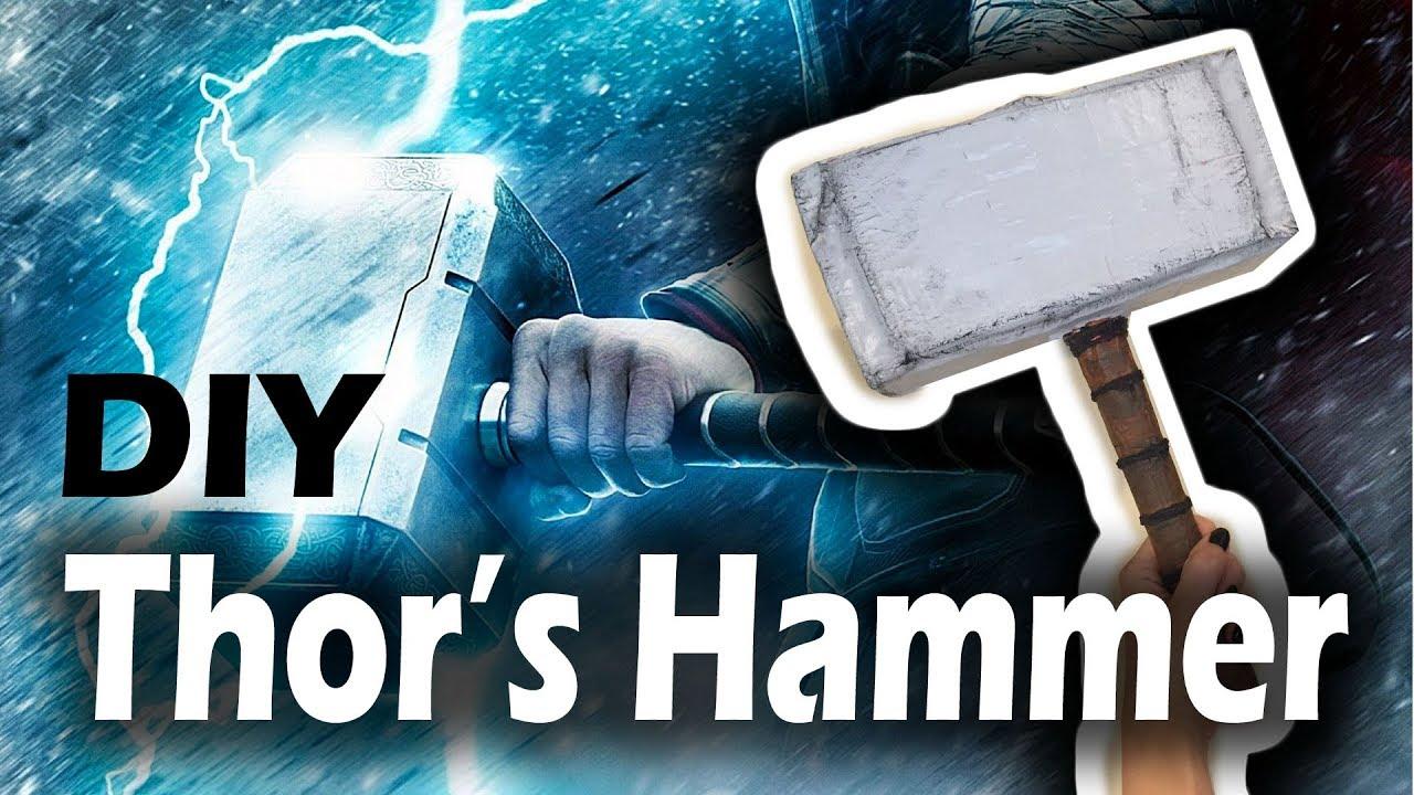 paper mache thor 39 s hammer diy youtube