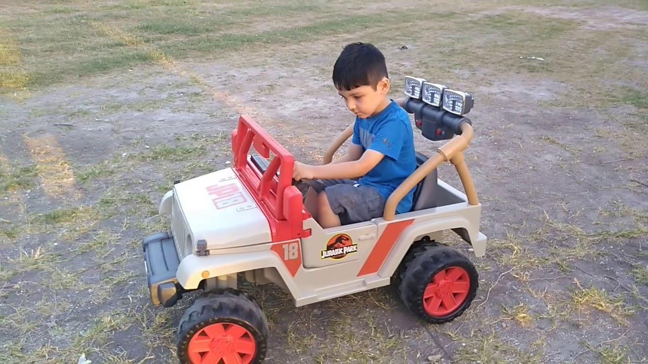 Jeep Jurassic Park Power Wheels Toy 2018 New Model Youtube