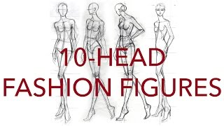 How to Draw Classic 10-Head Fashion Figures