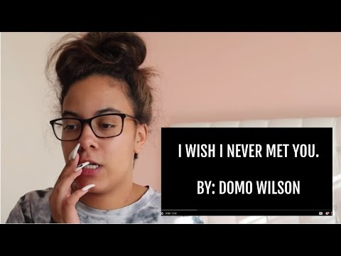 Crissy DELETED Reaction! to Domo News Song - I Wish I Never Met You - By Domo Wilson Parady