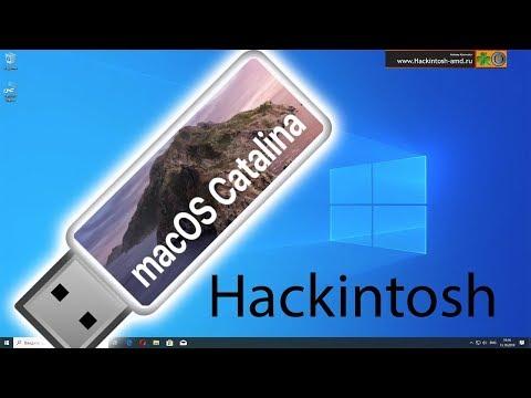 Создание загрузочной флешки C MacOS Catalina в Windows 10 за один клик