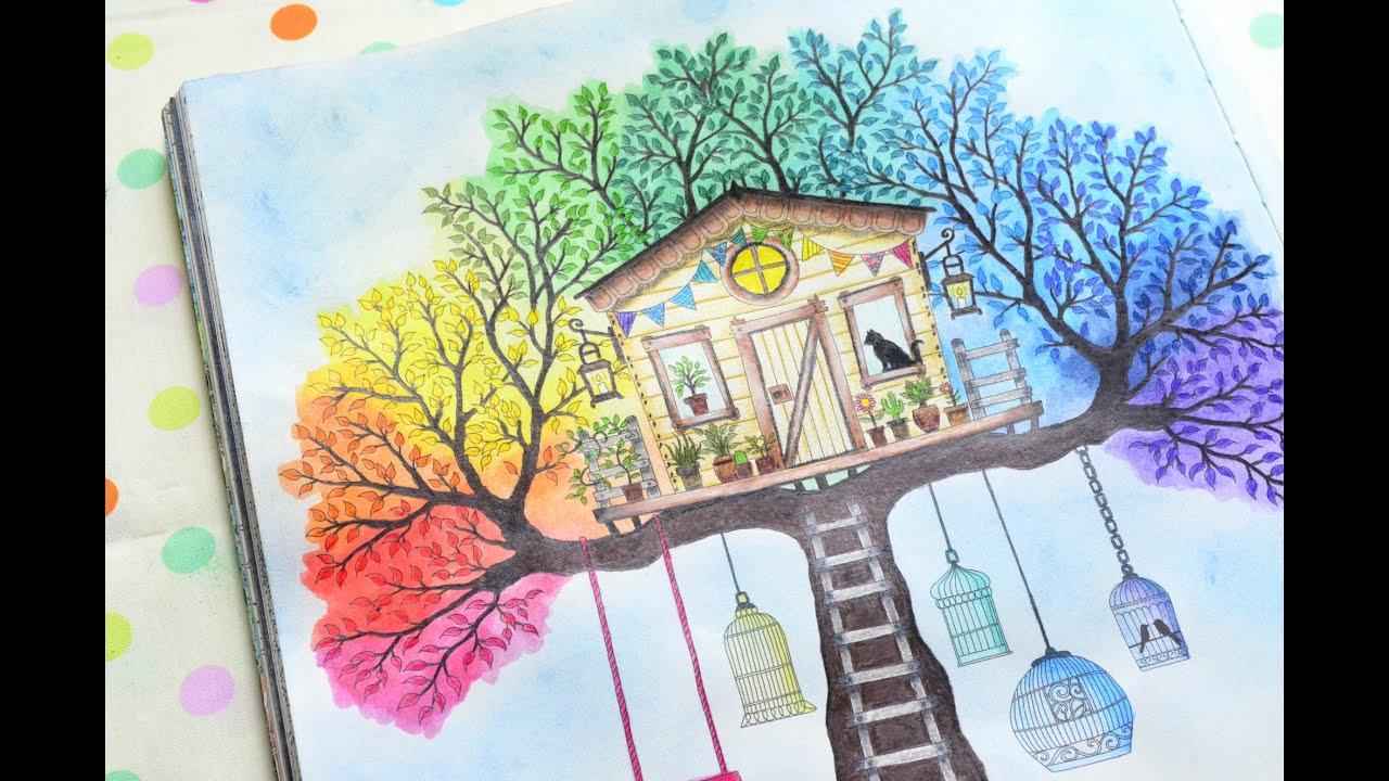 Livro Jardim Secreto  Casa da Árvore  YouTube