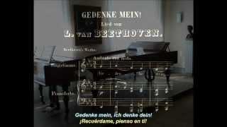 """""""Gedenke mein!"""" (""""¡Recuérdame!"""") en en Mi ♭ mayor, WoO 130. Ludwig van Beethoven"""