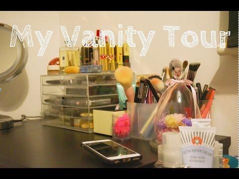My Vanity Tour! |我的化妆台和收纳|makeup and skincare organization ❤️